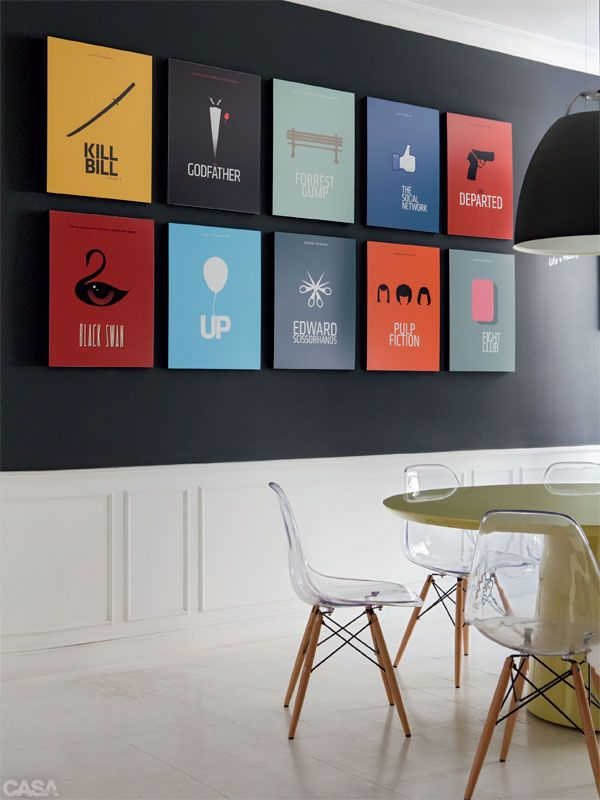 decoracao de sala unica:Decorating with Movie Posters