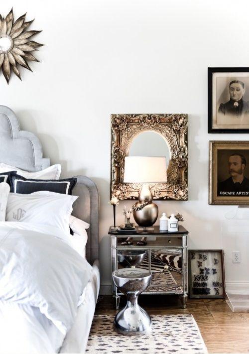 como decorar com criado-mudo-espelhado