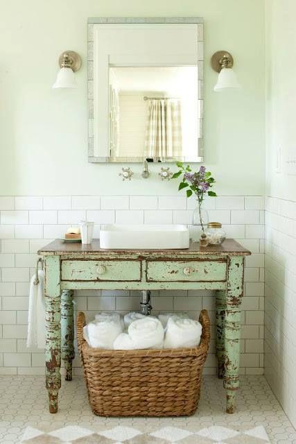 mesa antiga -lavabo retro