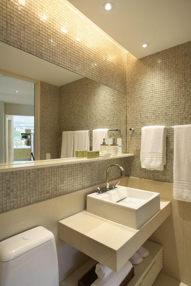 Banheiros decorados com pastilhas  35 lindas idei -> Banheiro Pequeno Decorado Com Pastilhas