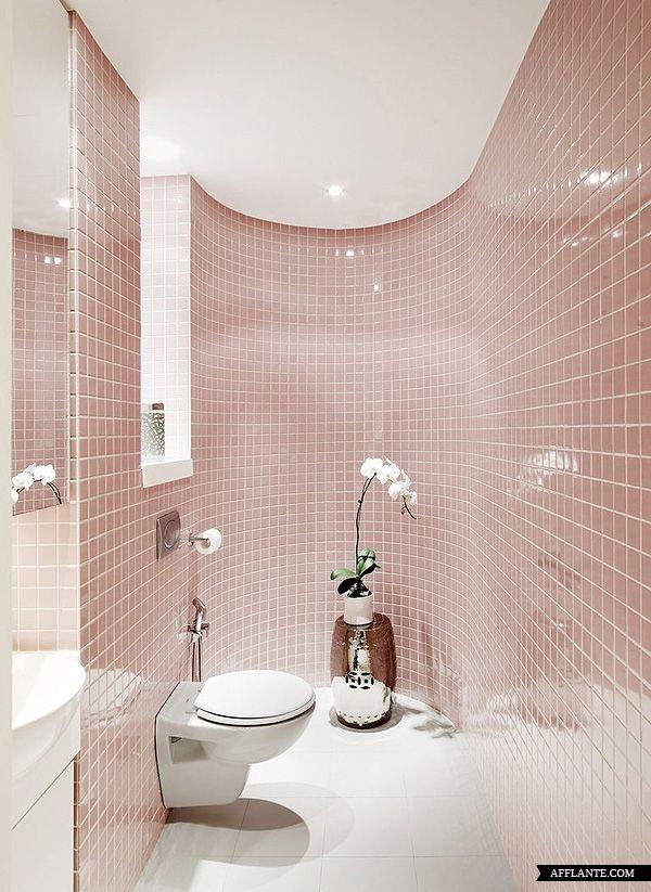 Banheiros decorados com pastilhas  35 lindas ideias -> Banheiro Decorado Com Pastilhas Verdes