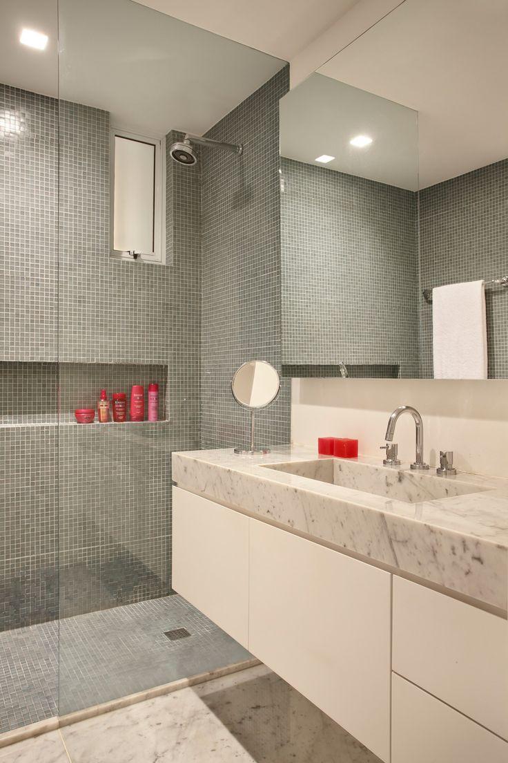 Banheiros decorados com pastilhas 35 lindas ideias for Imagenes de pisos decorados