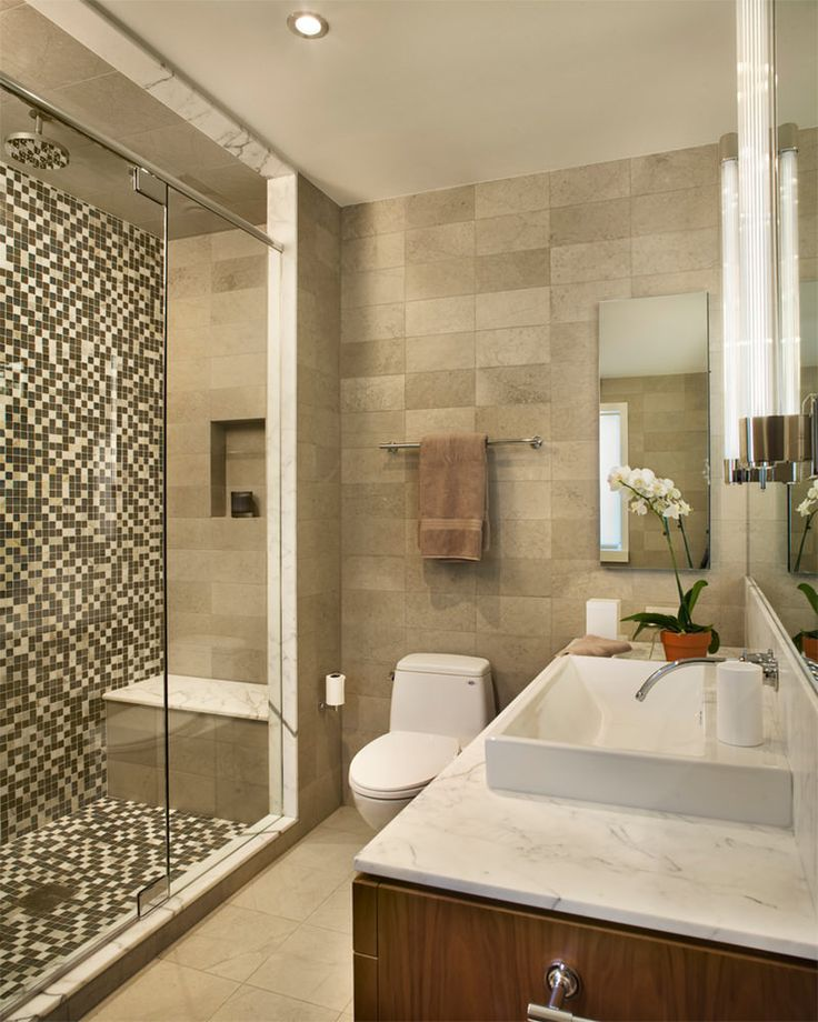 Banheiros decorados com pastilhas  35 lindas ideias -> Banheiros Modernos Pastilhados