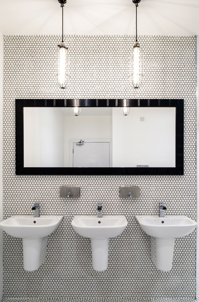 Banheiros decorados com pastilhas  35 lindas idei -> Banheiros Decorados Com Pastilhas Amarelas
