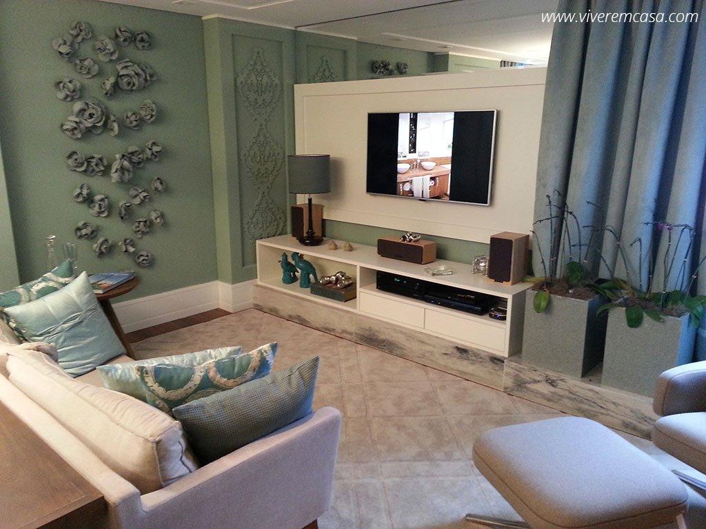 Decoracao De Sala Verde Com Marrom ~ Decoração de sala pequena de apartamento