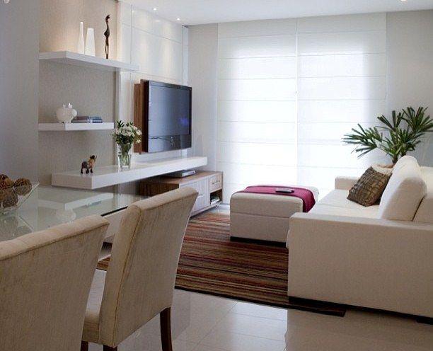 Decora o de sala pequena 12 ideias incr veis viver em for Idea decorativa sala de estar pequeno espacio