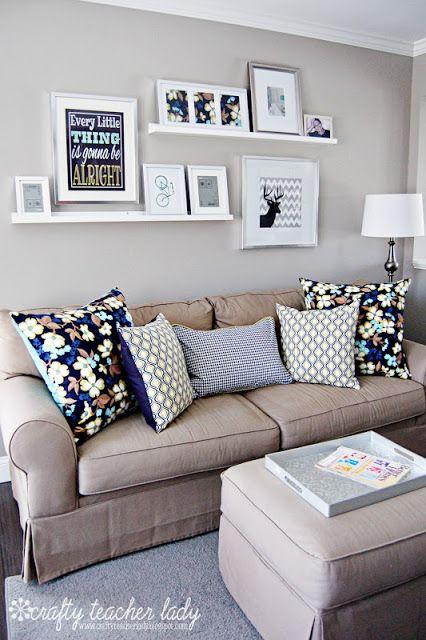 que cor pintar uma sala de estar pequena