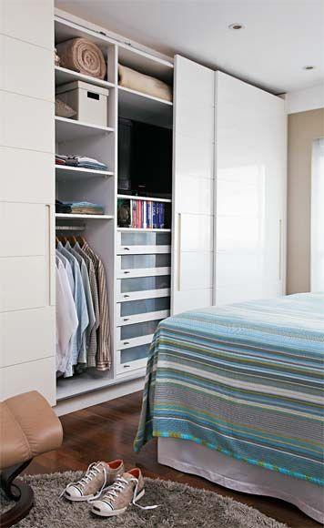 Decoração de quarto de casal pequeno 20 ideias incríveis ~ Quarto Pequeno Tv