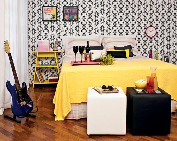 Decoração de quarto de casal pequeno 20 ideias incríveis ~ Quarto Vintage Casal