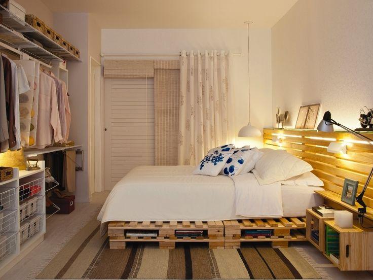 decoracao de quartos para ambientes pequenos : decoracao de quartos para ambientes pequenos:Pallet Bed Frame with Storage
