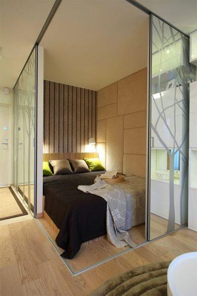 Decoração de quarto de casal pequeno moderno