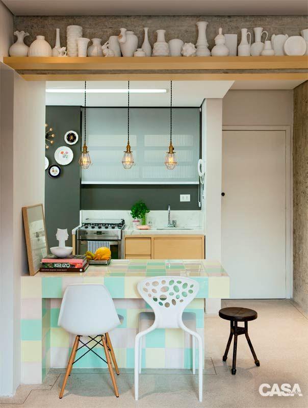 Decora o apartamento pequeno cozinha americana for Casa rustica classica