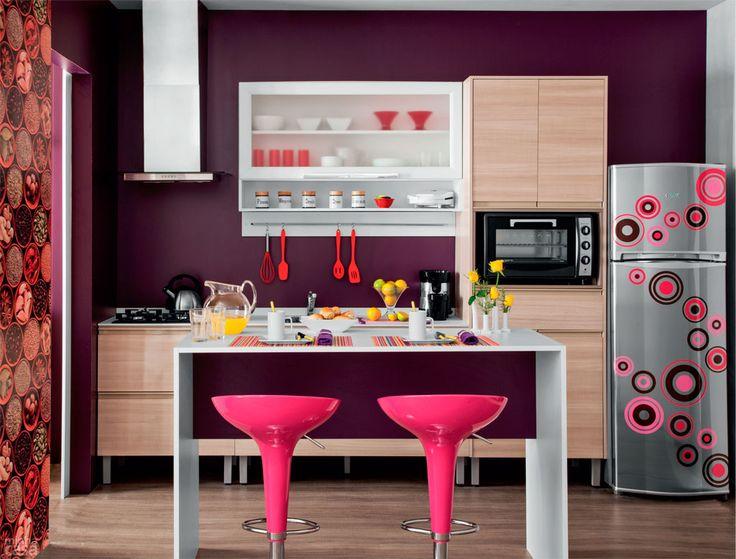 Decoração apartamento pequeno cozinha americana diferente