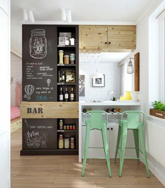 Apartamento Pequeno: Decoração Apartamento Pequeno Cozinha Americana