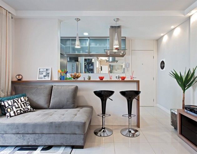 decoracao de kitnet pequeno : Decora??o apartamento pequeno cozinha americana
