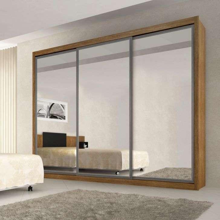 quanto custa um quarto planejado - guarda-roupa com porta de espelho