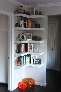 prateleiras para colocar decorações em apartamentos pequenos