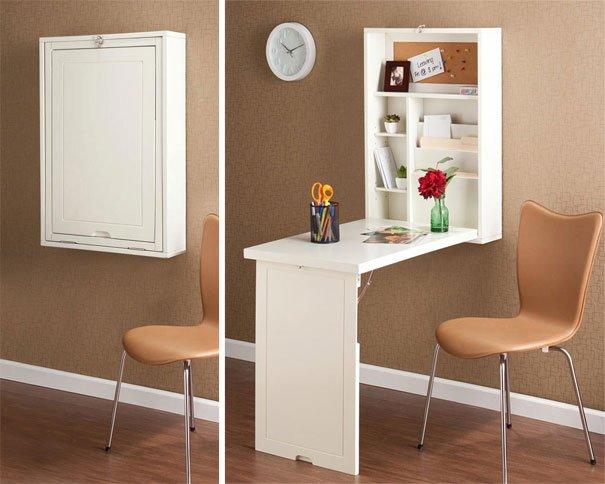 Decoração de apartamentos pequenos - mesa para escritório