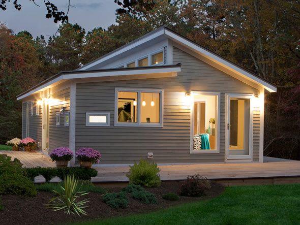 Fachadas de casas de madeira - cinza