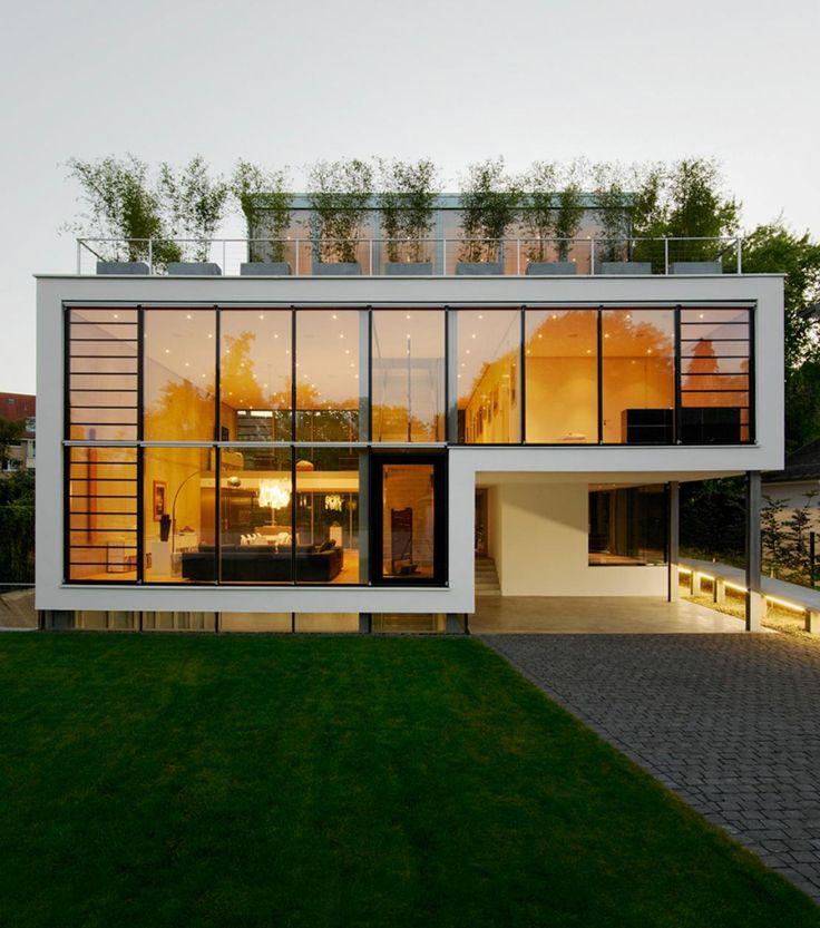 Fachada de casas pequenas e modernas 25 lindas ideias for Casa moderna black walnut luxury vinyl plank
