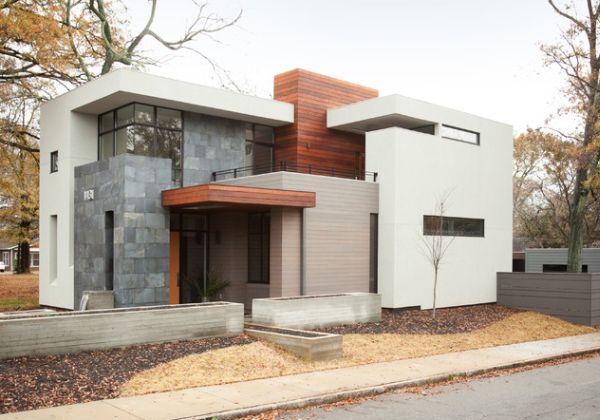 Fachada de casas pequenas e modernas 25 lindas ideias for Casa moderna 4 ambientes