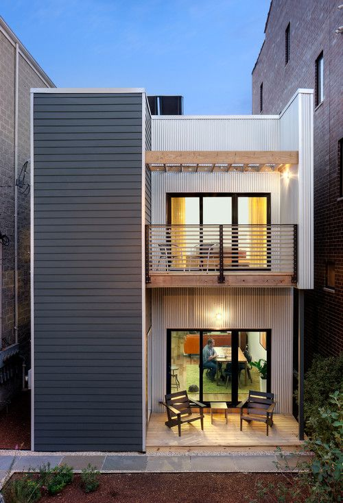 Fachada de casas pequenas e modernas 25 lindas ideias for Exterior house design for small spaces
