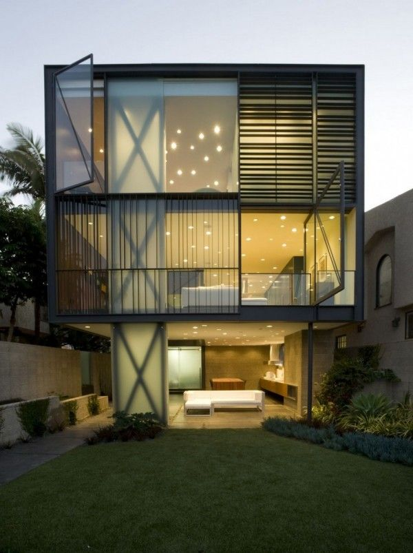 Fachada de casas pequenas - glen irani architects