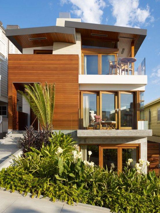 Fachada de casas pequenas e modernas 25 lindas ideias for Fachadas de casas estilo rustico moderno