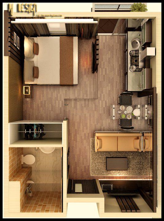 Decora o de apartamentos pequenos 30 ideias geniais for Imagenes de apartamentos modernos pequenos