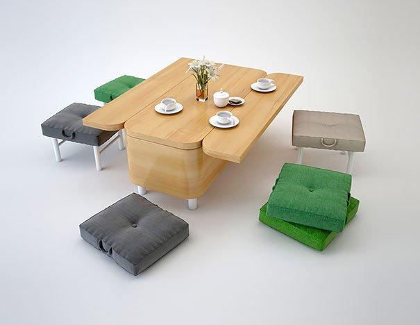mesa de jantar para decoração de apartamentos pequenos