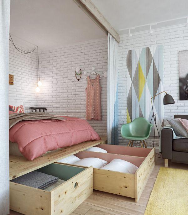 Decoração de apartamentos pequenos - quarto