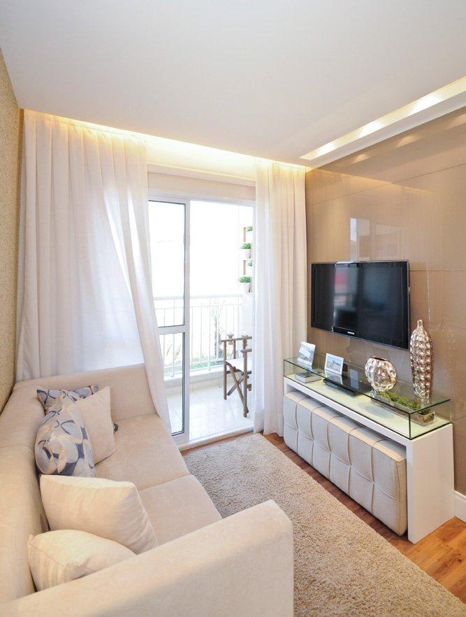 Decoração de apartamentos pequenos  sala moderna e bonita