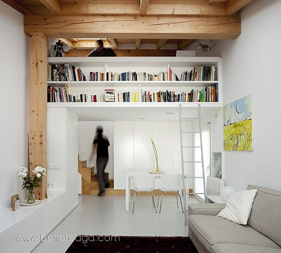 decoracao barata para ambientes pequenos : decoracao barata para ambientes pequenos:11 – Decoração de apartamentos pequenos – Quarto integrado à