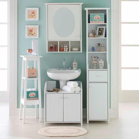 decoracao de ambientes pequenos banheiros: Decoração de apartamentos pequenos – Móvel modulado para banheiro