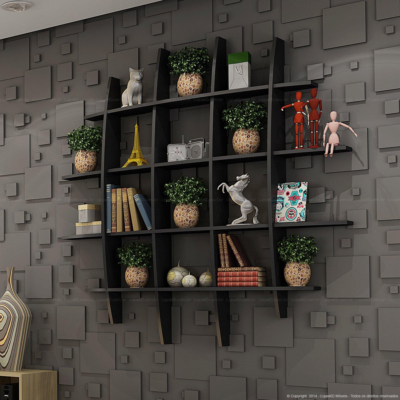Decoração de apartamentos pequenos prateleiras para sala