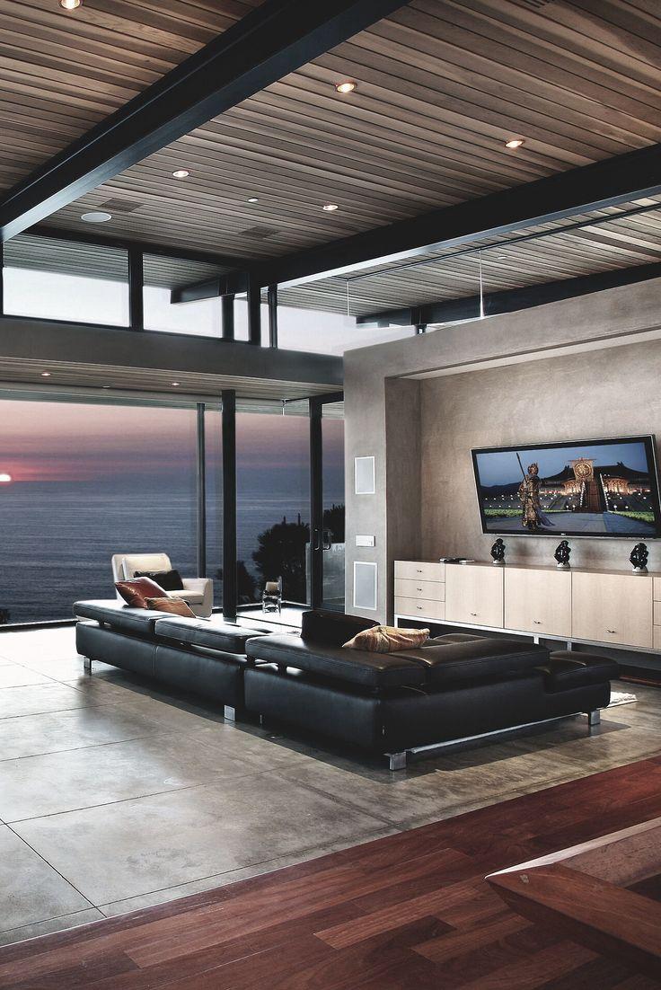 Decorao Sala De Tv Moderna Modernos Decorao De Apartamento Pequeno  -> Sala De Tv Improvisada