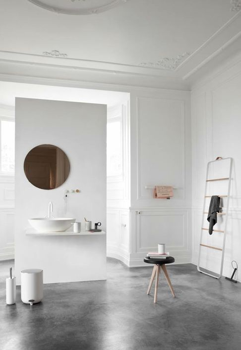 Piso de cimento queimado  50 ideias lindas de decoração -> Banheiro Decorado Com Cimento Queimado
