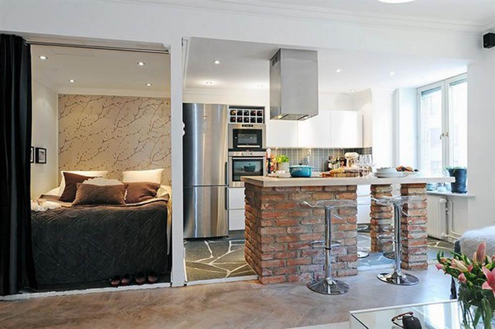 Decoração de apartamentos pequenos - cozinha