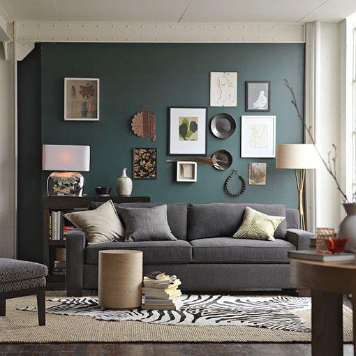 Stiffkey Blue Living Room Ochre Sofa