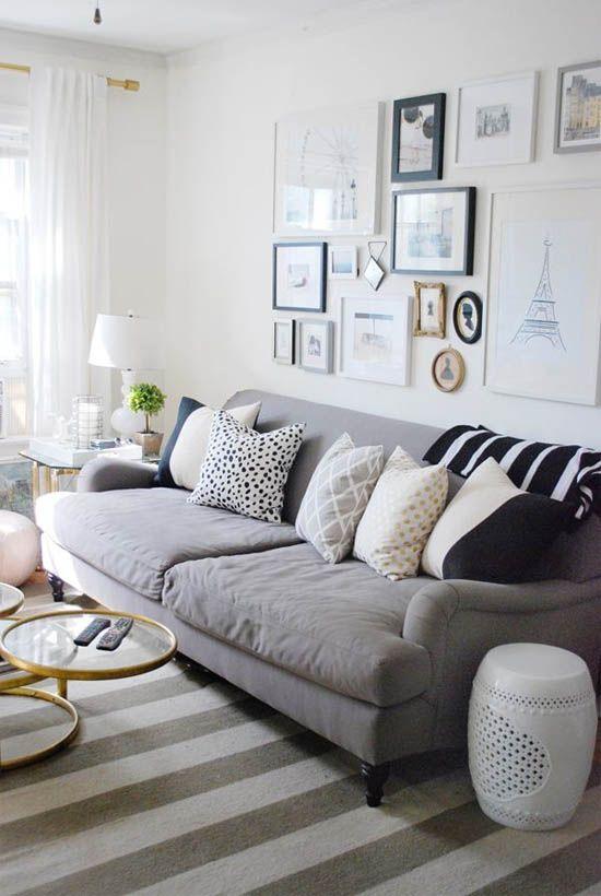 Decoração sofá cinza 20 ideias para se inspirar