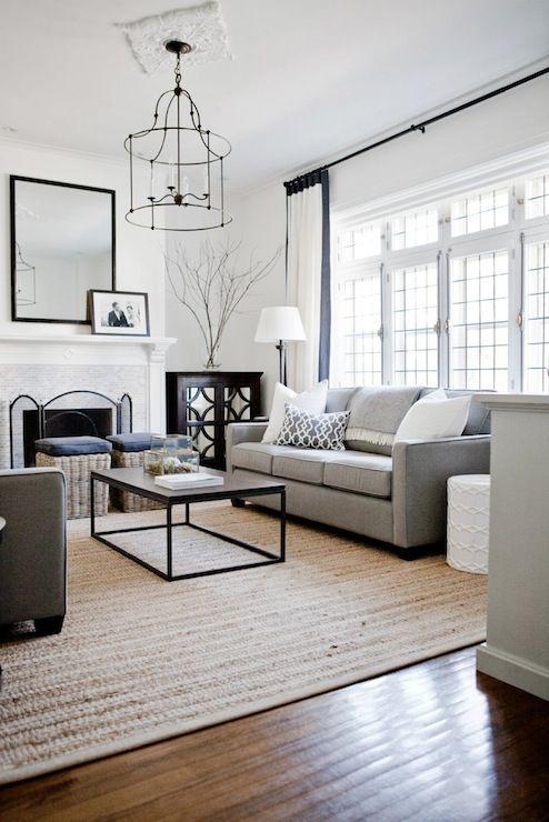 Sala De Estar Cinza E Bege ~ Decoração com sofá cinza  20 ideias para se inspirar
