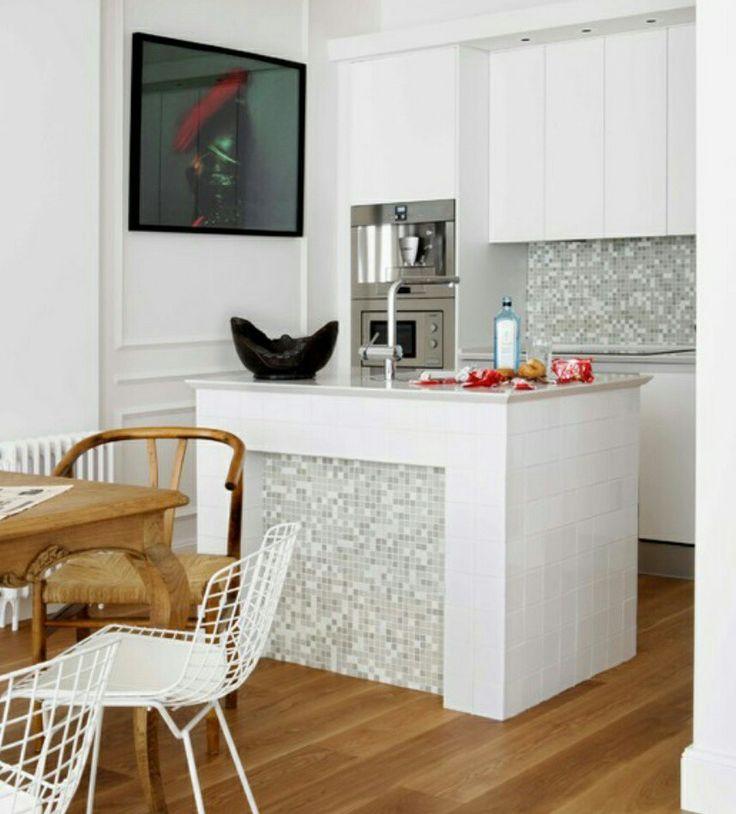 Cozinhas decoradas com pastilhas cinza