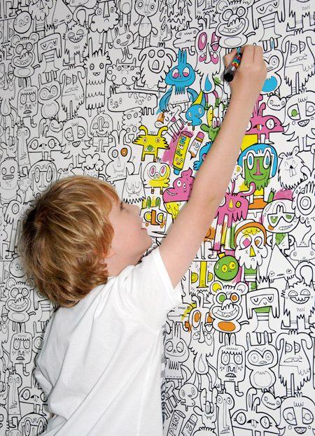 Papel de parede para quarto de menino beb e adolescente for Papel de pared para pintar