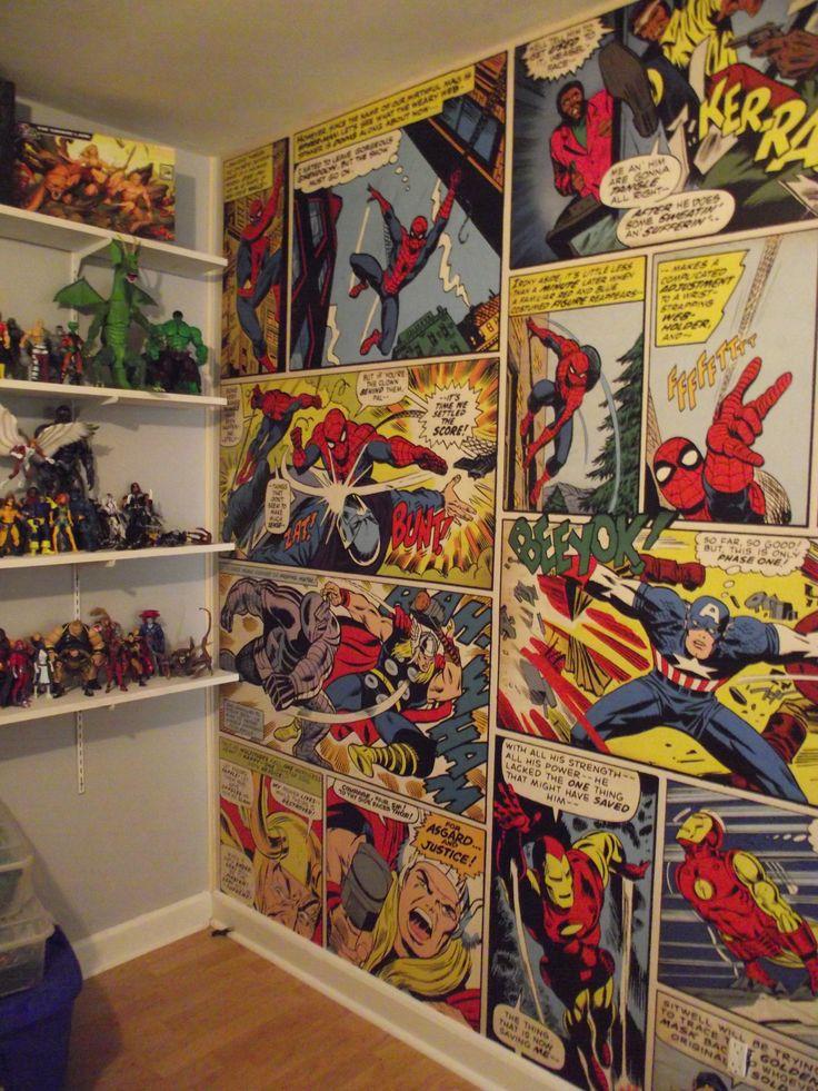 Papel de parede para quarto de menino beb e adolescente for Boys marvel bedroom ideas