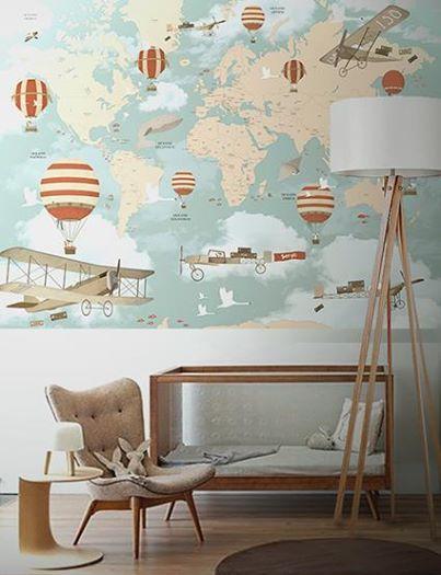 Papel de parede para quarto de menino bebê