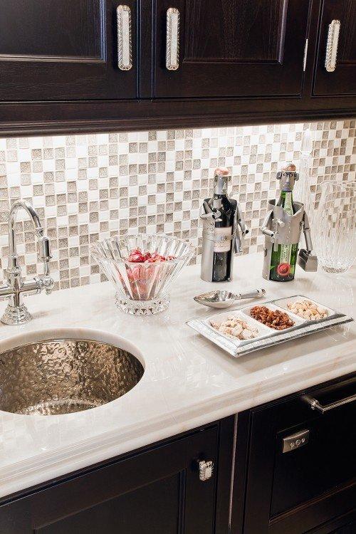 cozinhas decoradas com pastilhas de vidro