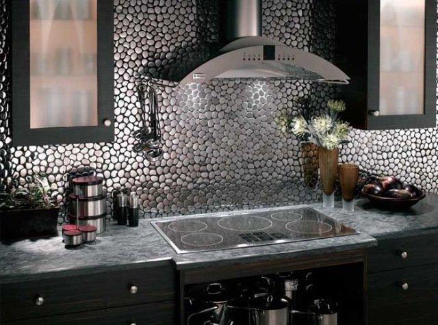 cozinhas decoradas com pastilhas redondas