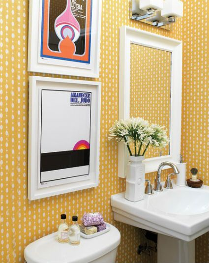 Banheiros pequenos bonitos, modernos e inspiradores -> Banheiro Pequeno Metragem