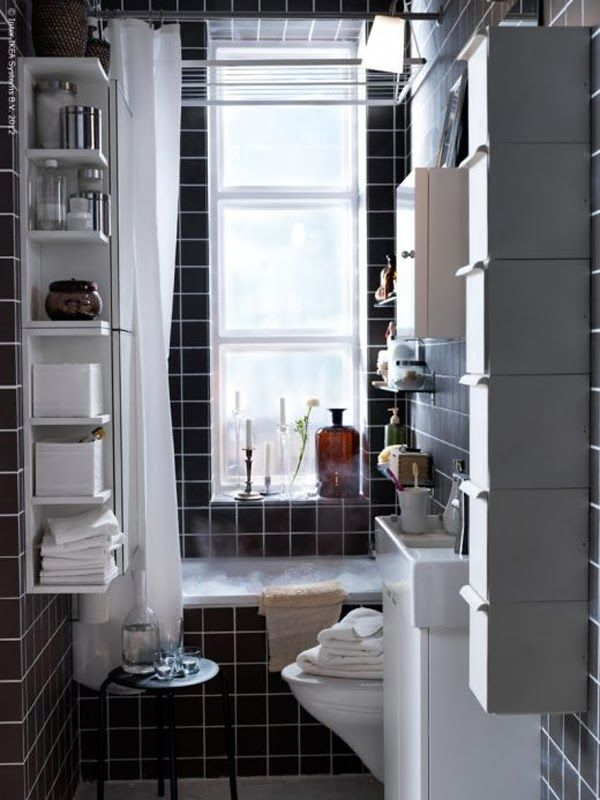 Banheiros pequenos bonitos, modernos e inspiradores -> Banheiros Modernos Bonitos