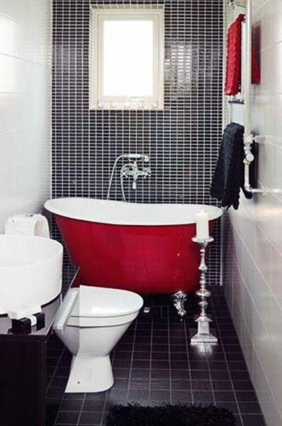 Banheiros pequenos bonitos modernos e inspiradores for Salle de bain baignoire et douche 7m2